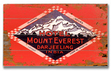 Mt Everest Darjeeling India Wood Sign