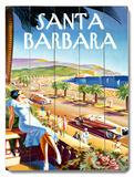 Santa Barbara Beach Resort Wood Sign
