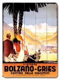 Visitate Bolzano-Gries Wood Sign