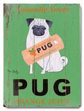Naturally Sweet Pug Orange Juice Wood Sign