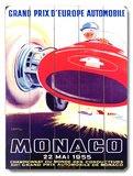 1955 Monaco F1 Grand Prix Wood Sign