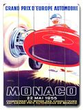 1955 Monaco F1 Grand Prix Wood Sign