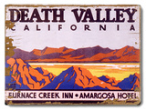 Death Valley California Furnace Creek Inn Amargosa Wood Sign