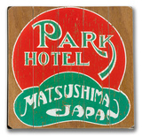 Park Hotel Matsushima Japan Wood Sign