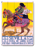 1934 Sevilla Fiesta Wood Sign