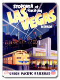 Union Pacific Las Vegas Deco Train Placa de madeira