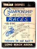 Motorcycle Races, Long Beach Arena Wood Sign