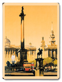 London - Trafalgar Square, 1948-1965 Wood Sign