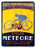 Meteor Bicycle Poster Wood Sign