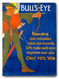 Robin Hood Archer Motivational Poster Wood Sign