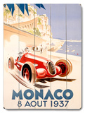 1937 Monaco Grand Prix F1 Race Wood Sign