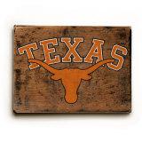 University of Texas Longhorns Wood Sign