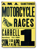 Carrell Speedway Wood Sign