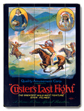 Custer's Last Fight Movie Wood Sign