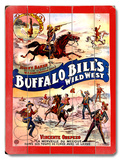 Buffalo Bill's Wild West Placa de madeira