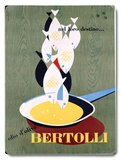 Italian Bertolli Seafood Cooking Wood Sign