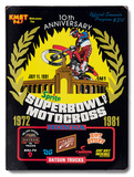 1981 Super Bowl of Motocross Wood Sign
