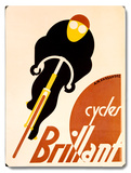 French Brillant Bicycle Wood Sign