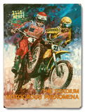 Honda Stadium Motocross Phenomena Wood Sign