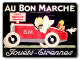Childrens Au Bon Marche Roadster Wood Sign