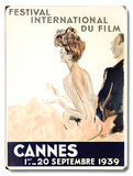 1939 Cannes Film Festival Wood Sign