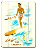 Matson Lines Surfer Wood Sign