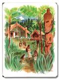 Nova Zelândia Placa de madeira