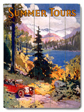 Summer Tours Union Pacific Railroad Wood Sign