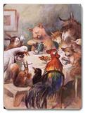 Farm Animals, Dining Placa de madeira