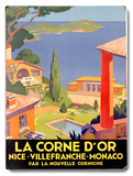 La Corne D'Or Wood Sign