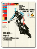 500cc US Motocross Grand Prix Wood Sign
