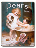 Pears Soap Children's Puppy Wood Sign