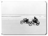 Daytona Motorcyclist Wood Sign