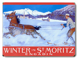 Winter in St. Moritz Wood Sign