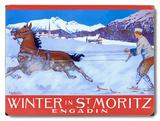 Winter in St. Moritz Wood Sign