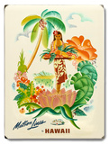 Matson Lines Tropical Fruit Platter Wood Sign