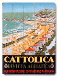 Cattolica Adriatic Riviera Resort Wood Sign