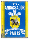 Hotel Ambassador Paris Wood Sign