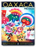 Oaxaca Mexico Travel Wood Sign