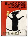 Black Dog Licorice Wood Sign