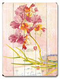 Natural Wonders - Pink Orchid Wood Sign