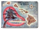 The Islands of Hawaii Map 木製看板