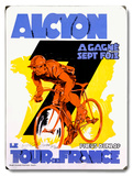 Alcyon/Tour de France Wood Sign