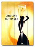 その瞬間 - テタンジェ・シャンパン 木製看板