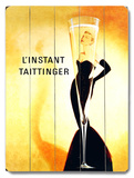 L'Instant Taittinger Champagne Wood Sign