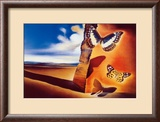 Landscape with Butterflies Prints by Salvador Dal&#237;