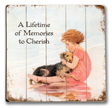 Girl &amp; Dog - Lifetime of Memories Wood Sign