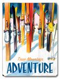 True Mountain Adventure Wood Sign