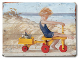 Boy on Trike Wood Sign