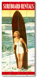 Surfboard Rentals Wood Sign